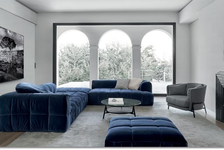 Strips sofa and Cradle Armchair for Arflex