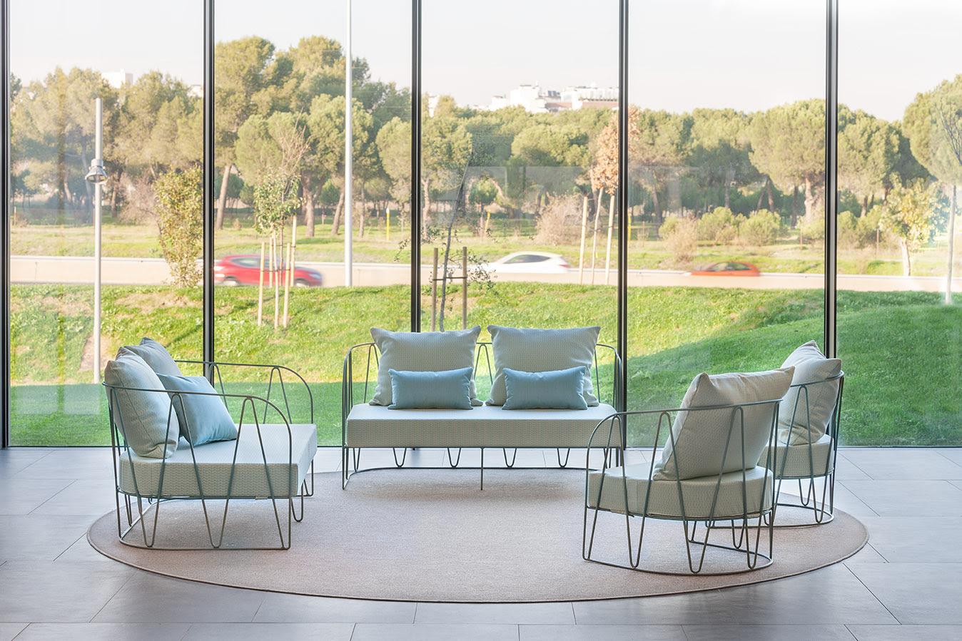 Lagarto Two Seat Sofa and lounge chair