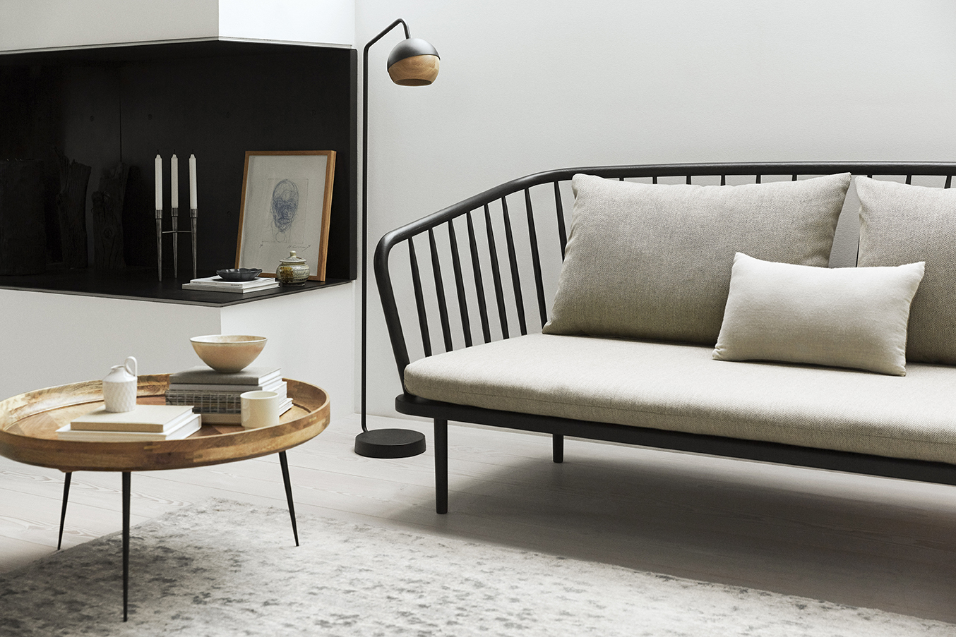 Mollis Sofa and Bowl table from Mater Design