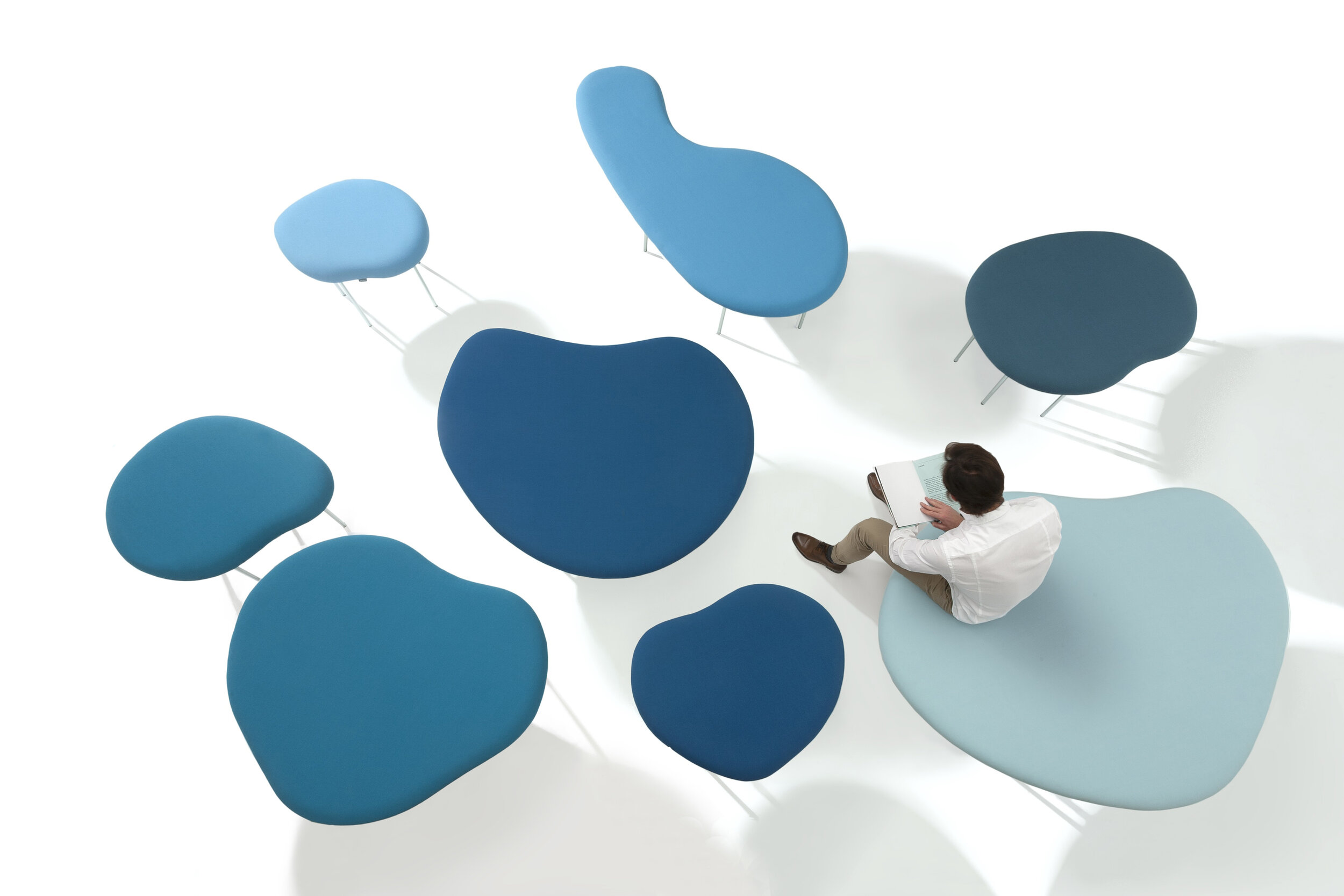 Droplets Upholstered Ottomans, Stools, or Benches,  starting at $422 List per piece