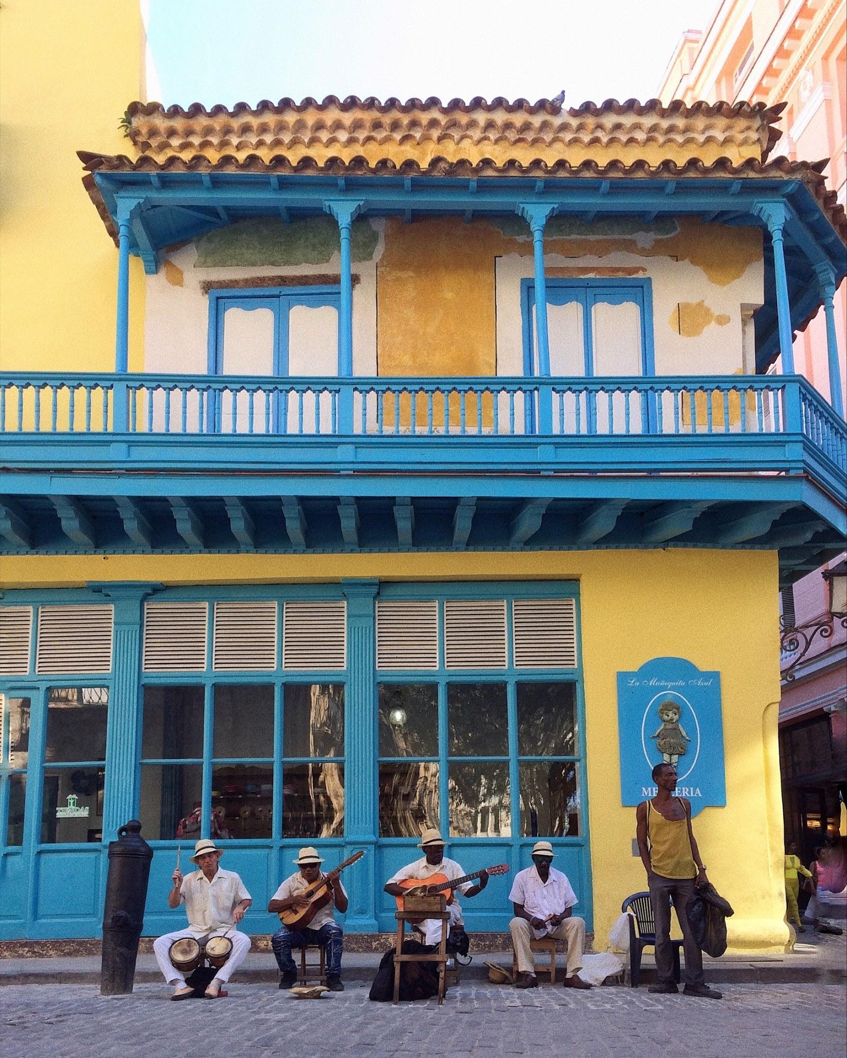 Street musicians in Old Havana.
