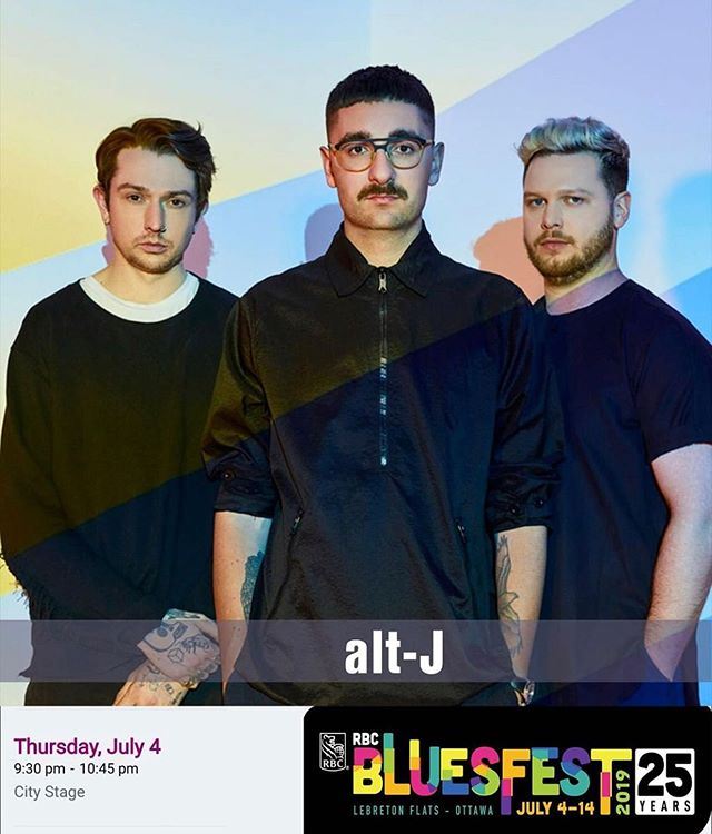 Repost from @ottawabluesfest! @unrealaltj today at 9:30 along with other great artists!! (See below) Who are you most excited to see?! 🎶  Shows today: @this_nao @ 6:00 @stevepoltz @ 6:00 @marie.clo @ 6:00 @riseashen @ 6:30 @zatakiwon @ 6:30 @abigaillapell @ 7:30 @rootsnroll @ 7:30 Eagle River Singers @ 7:30 @chvrches @ 7:45 @usgirls.and.remy @ 8:00 @ksloanavich @ 9:00 @stevievanzandt @ 9:00 @charlottecardin @ 9:30  #RBCBluesfest #ottawa #ottcity #ottawabluesfest #ottawalife #ottawaliving #ottawafun #ottawaevents #bluesfest #altj #bluesfest2019