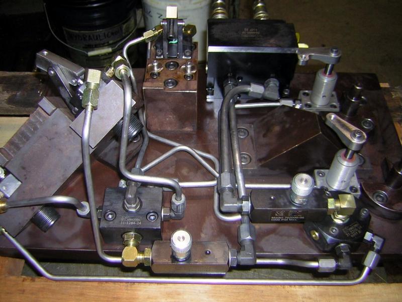 hydraulic clamp fixtures - cnc fixtures