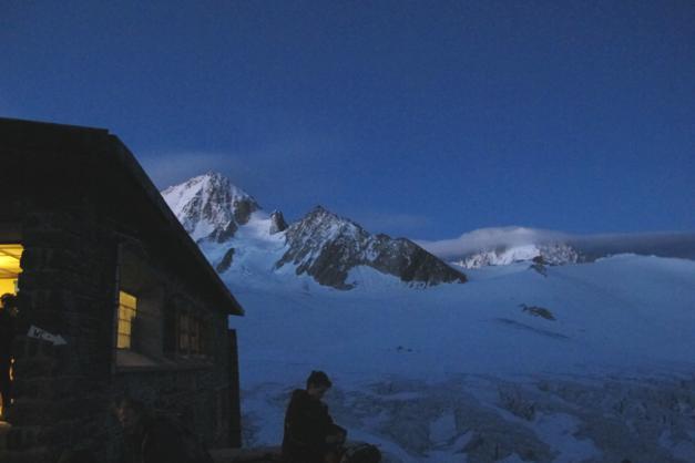 First light setting off from the Albert Premier Hut