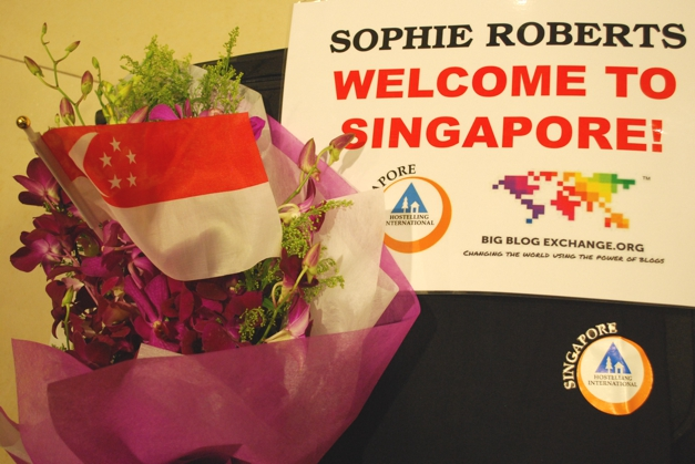 Welcome goodies from Hostelling International - Singapore