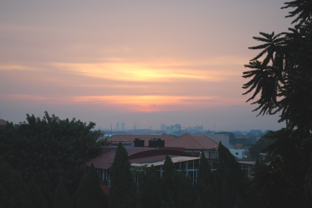 Sunset over Malacca