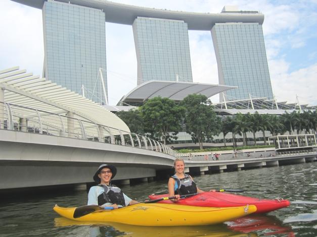 Underneath Marina Bay Sands, what an impressive hotel