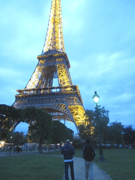 Heading towards the Eiffel Tower, Paris