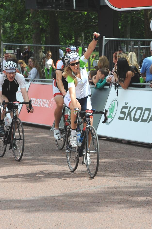 Sprint finish on RideLondon
