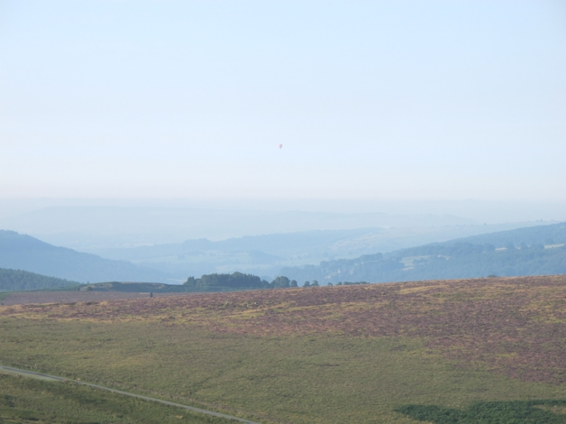 Hot air balloon in distance