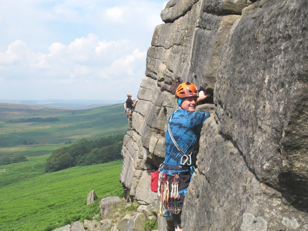 Charley leading the routes