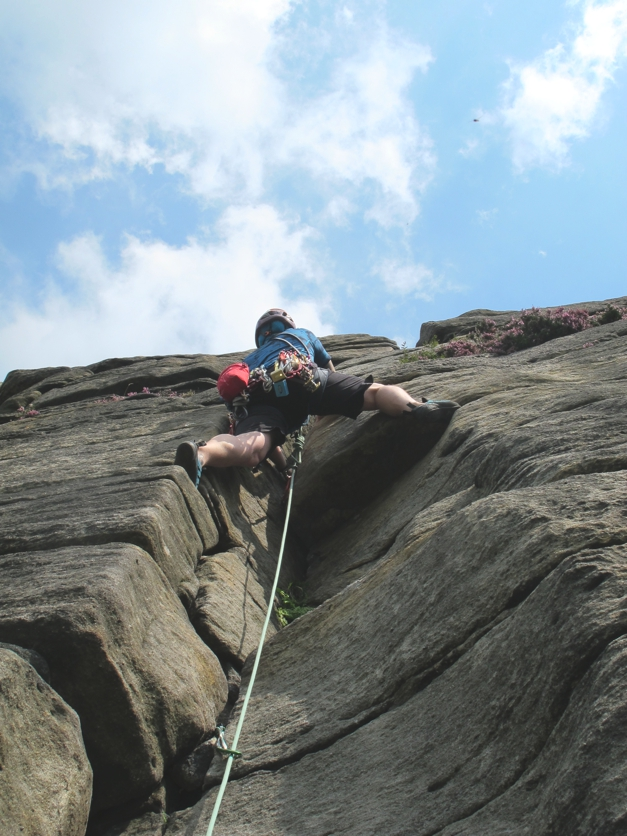 It's all about the crack climbing on Stanage