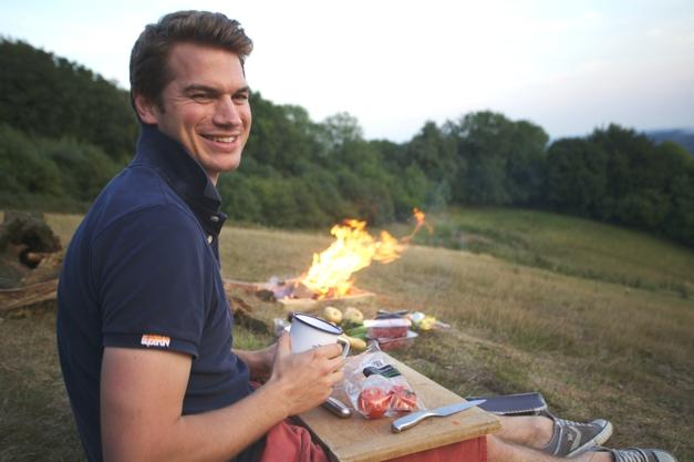 Alex making dinner