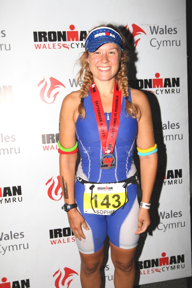 Challenge Sophie, Ironman Wales 2013 finish line