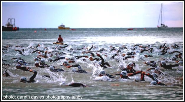 Ironman Wales Tenby swim course