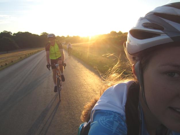 Monday morning 5am cycle around Richmond Park