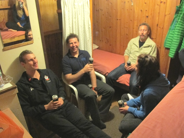 Beers in the bunkhouse