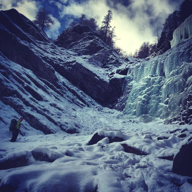 New ice! Climbing, Challenge Sophie, Cogne