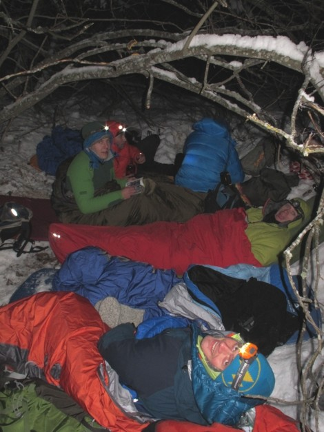 Bed time alpine bivvy