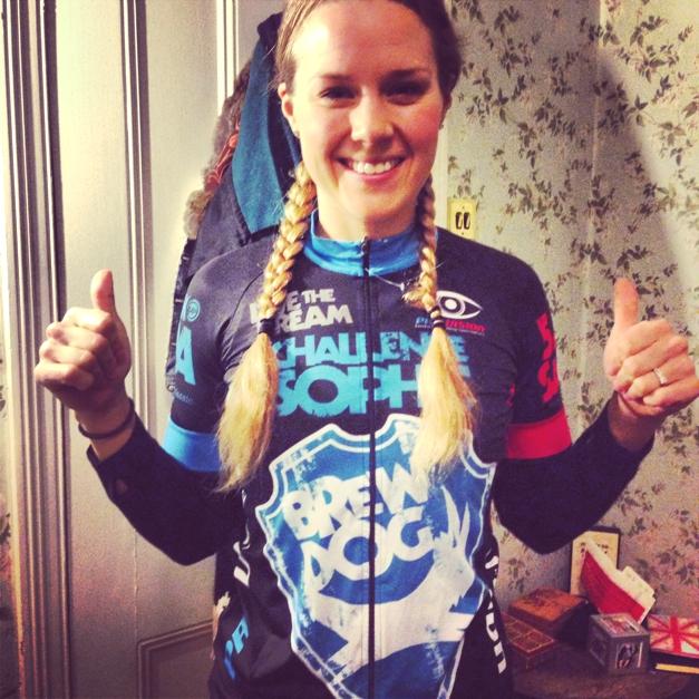 BrewDog cycling Challenge Sophie
