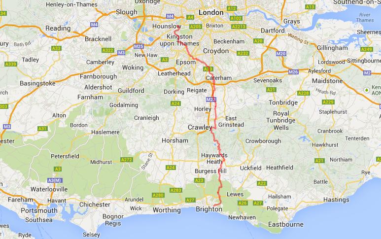 Running London to Brighton