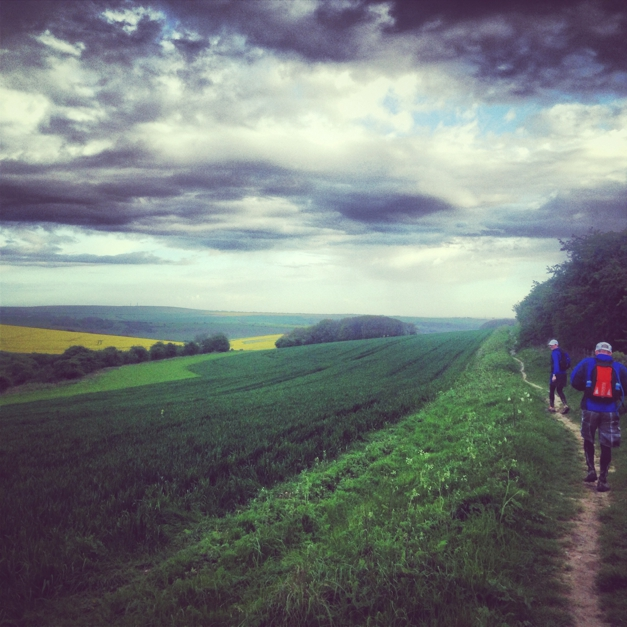 Sophie radcliffe running london to brighton South Downs