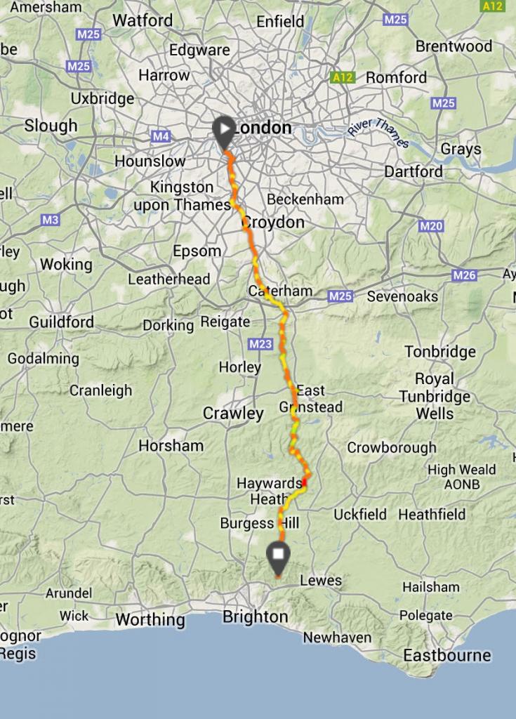 London to Brighton Route