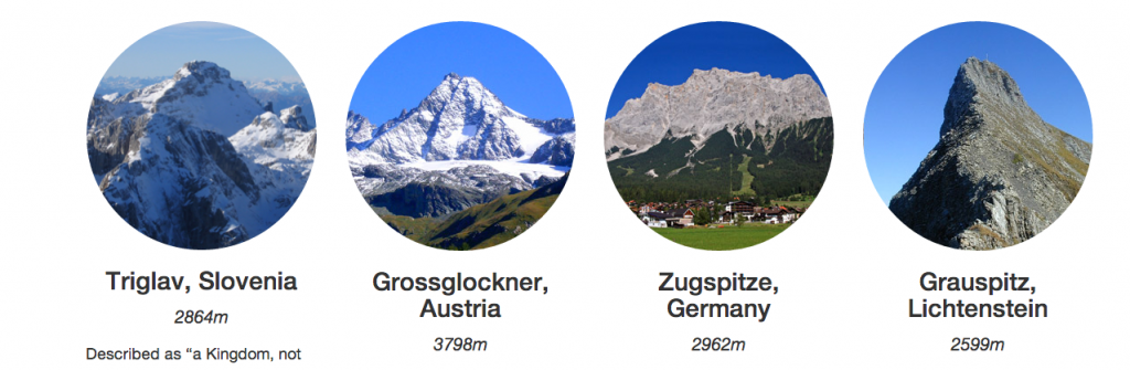 Alpine C2C mountains