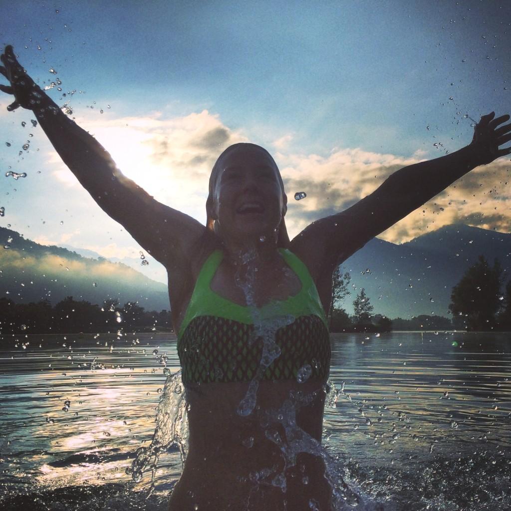 Sunrise swimming - Challenge Sophie, Sophie Radcliffe