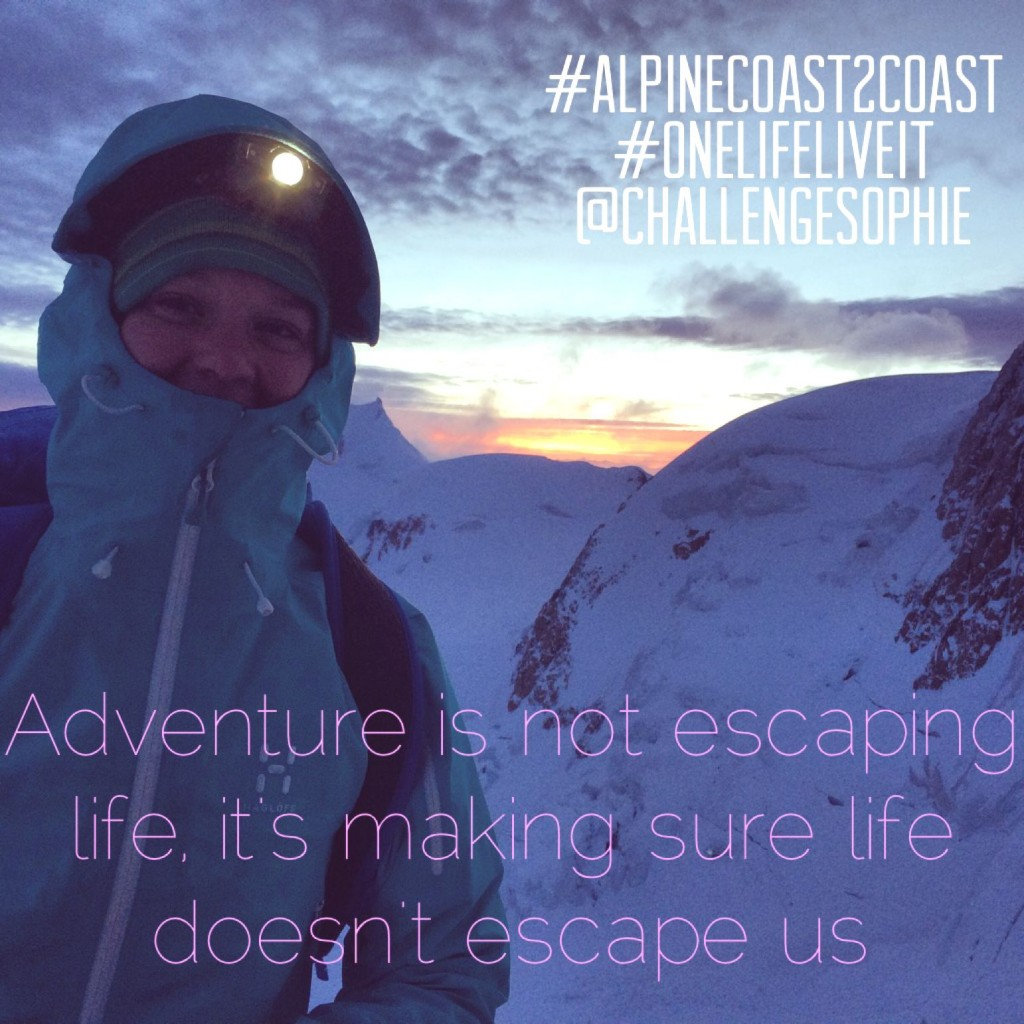 Climbing Mont Blanc, Sophie Radcliffe, Challenge Sophie, Adventure