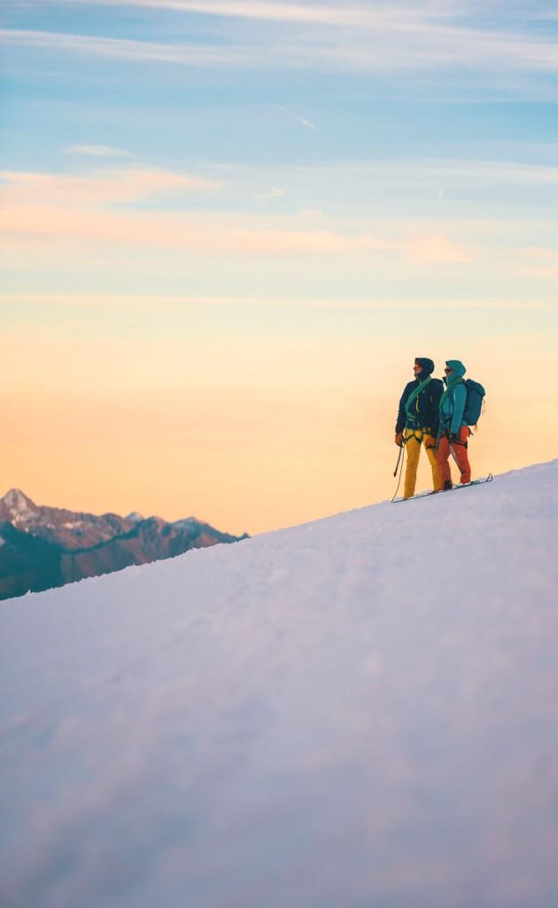 Sophie Radcliffe climbing in Chamonix
