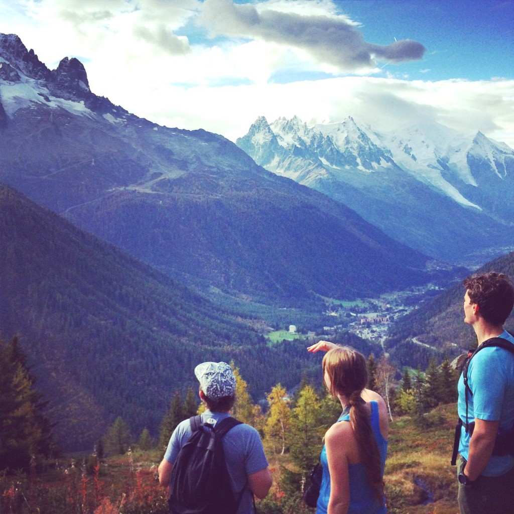 Sophie Radcliffe hiking in Chamonix