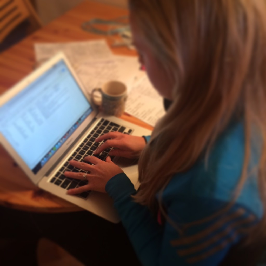 Sophie Radcliffe blogging