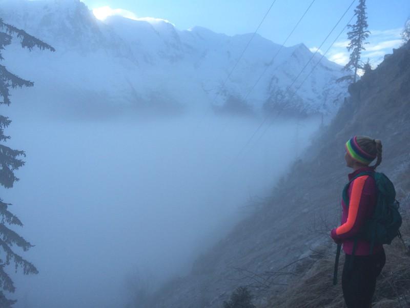 Running the Vertical KM in Chamonix