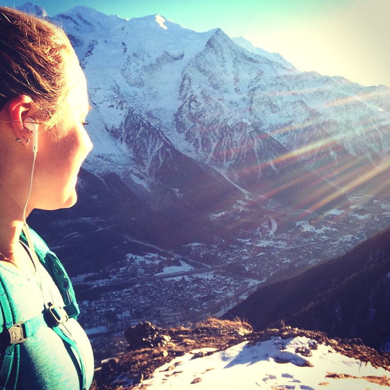 Open all winter Sophie Radcliffe trail running in Chamonix