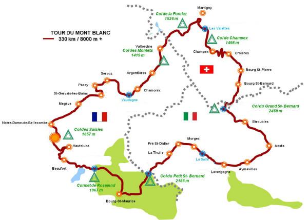 The Tour du Mont Blanc, cycling