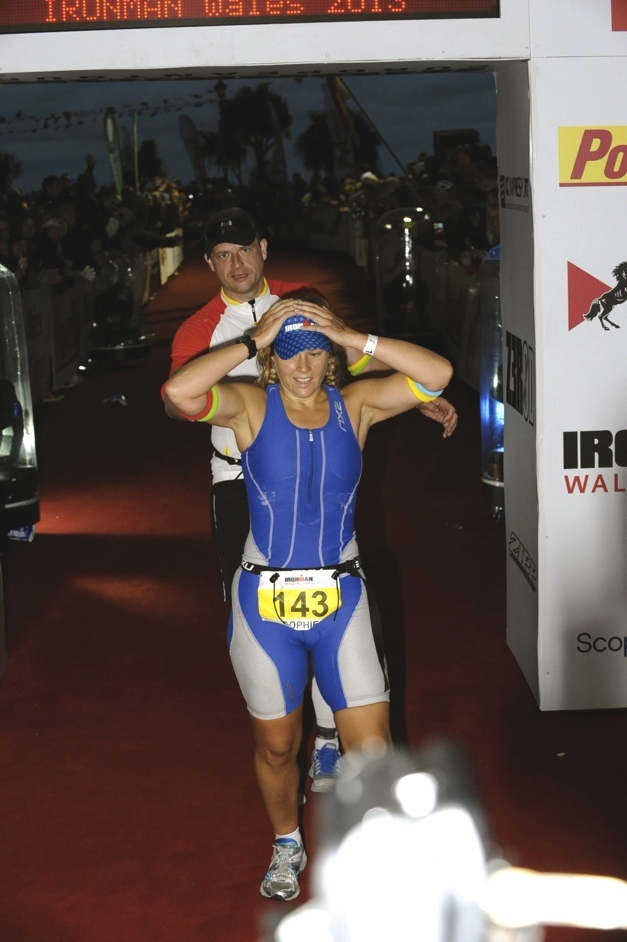 Challenge Sophie becomes and Ironman, Ironman Wales 2013