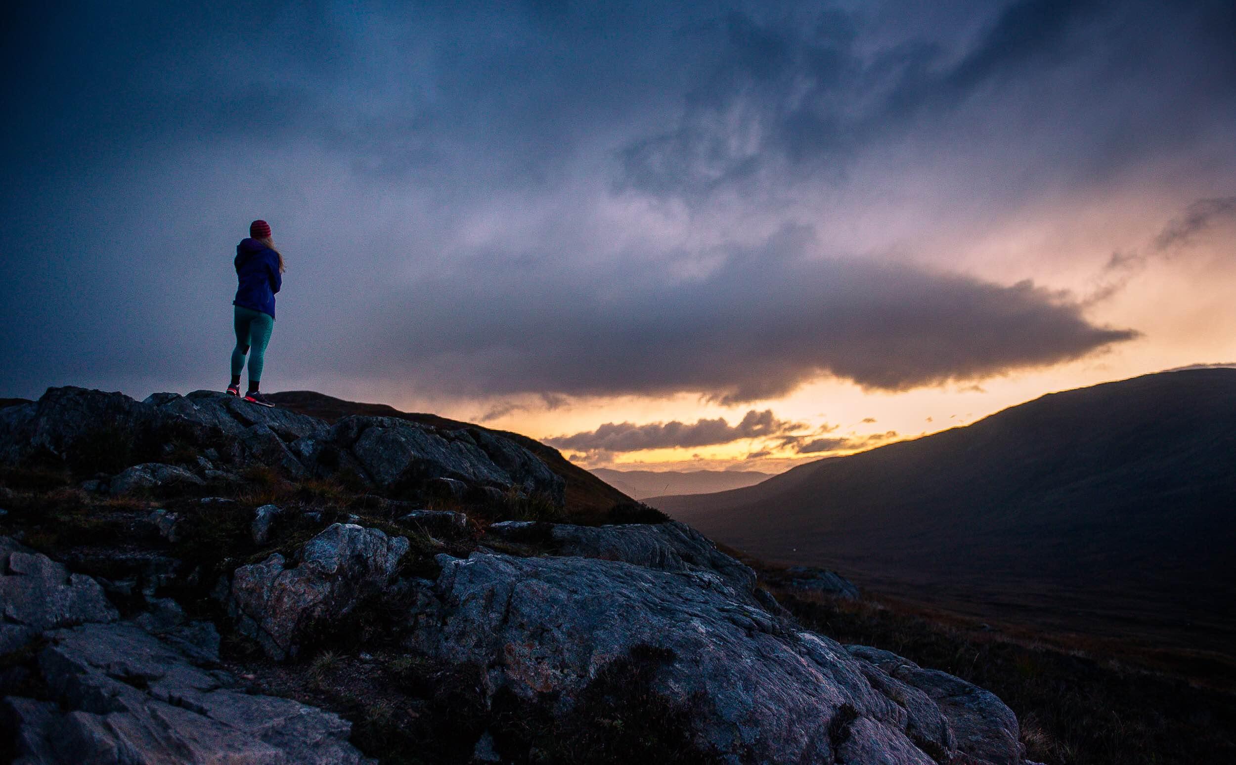 Sophie Radcliffe sunrise Glen Coe, Scotland