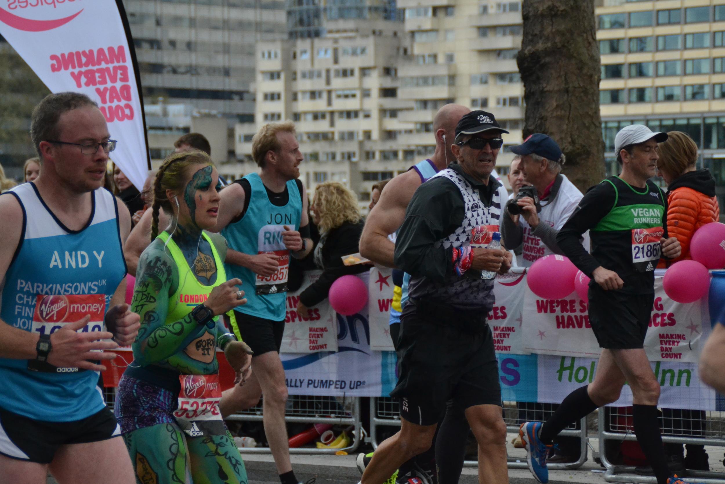 Sophie Radcliffe London Marathon, Body paint, Body Positivity
