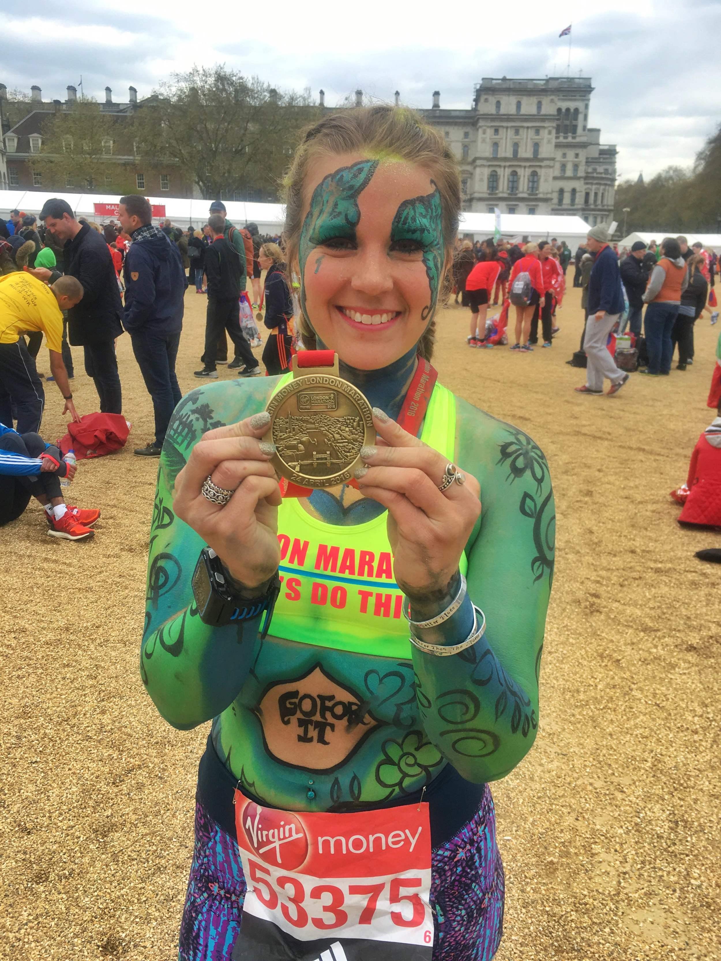 Sophie Radcliffe, London marathon, body positivity