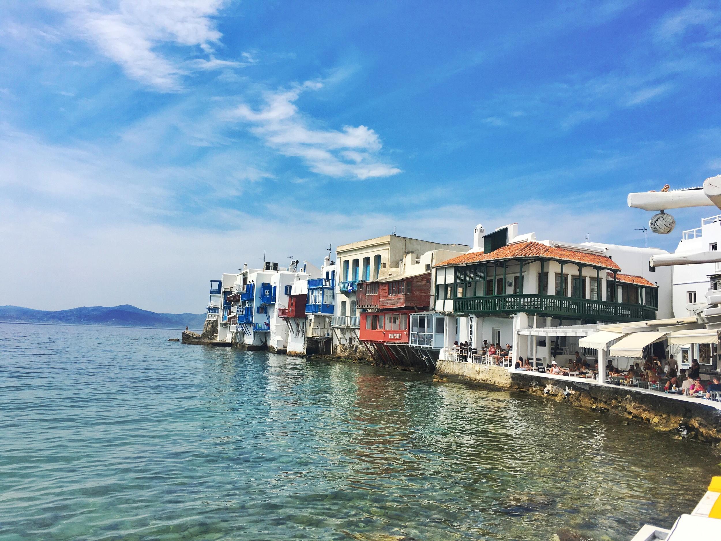 Little Venice in Mykonos Old Town
