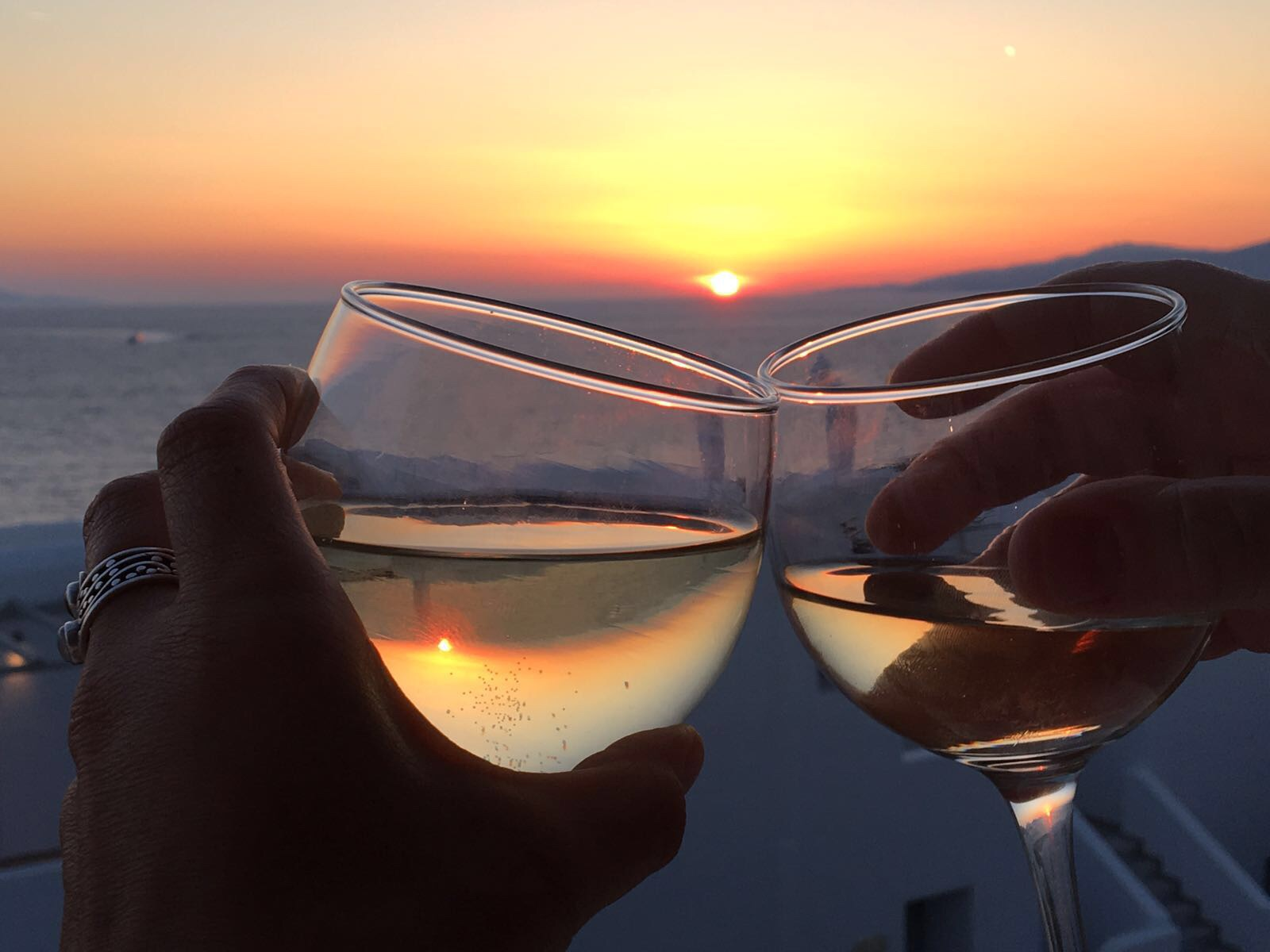 Sunset vino with Mum