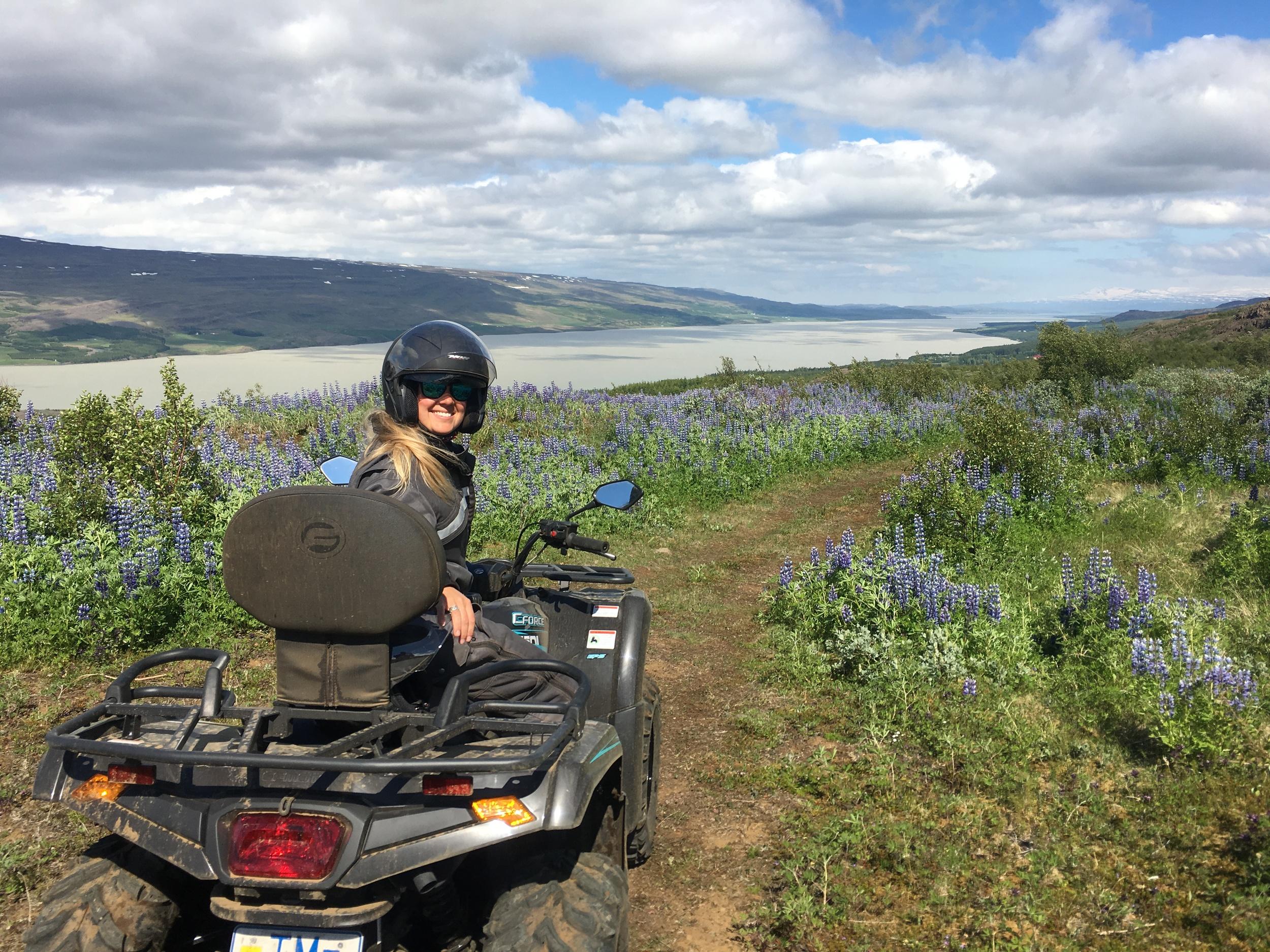 Sophie Radcliffe Discover The World East Iceland Quad Biking