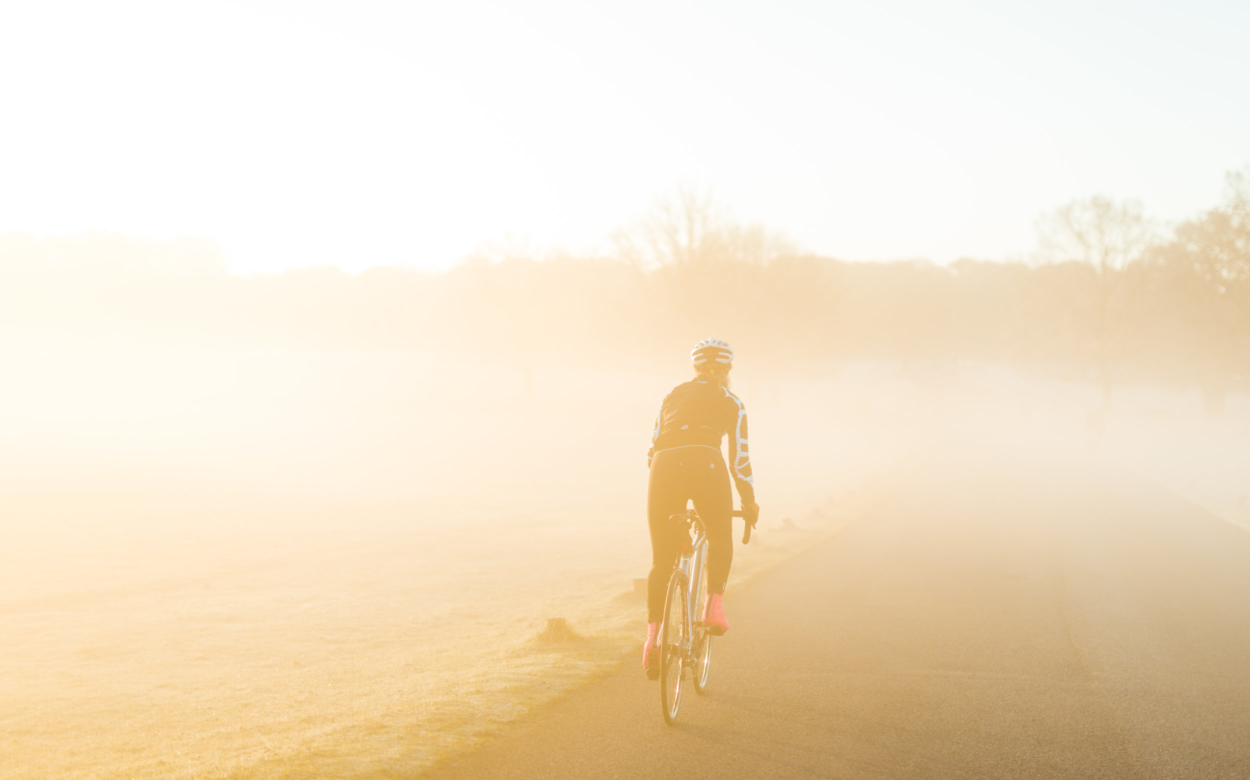 Sunrise cycle, january motivation, sophie radcliffe