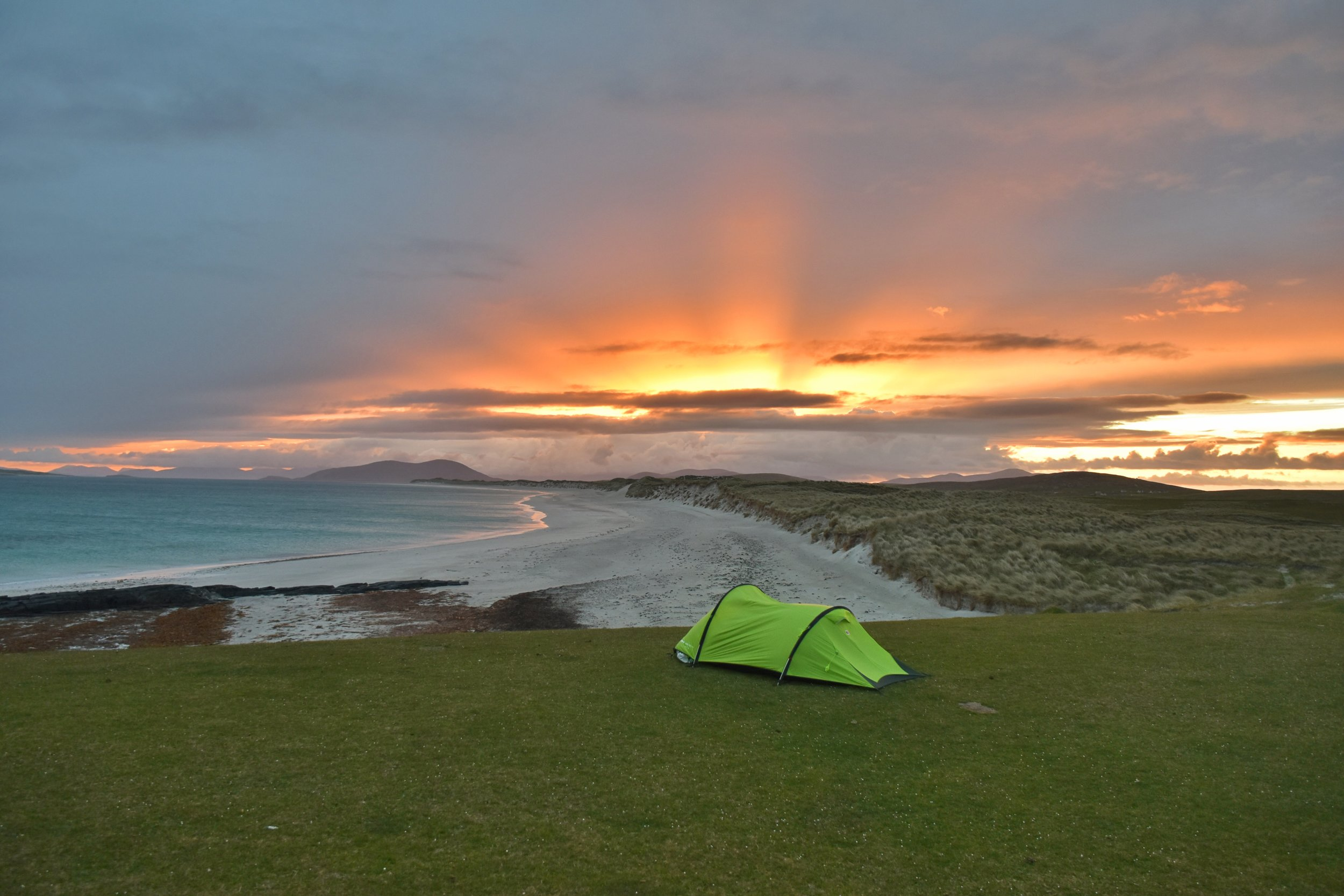 wild camping, Berneray Beach, Uist, Scotland, Outer hebrides adventure road trip