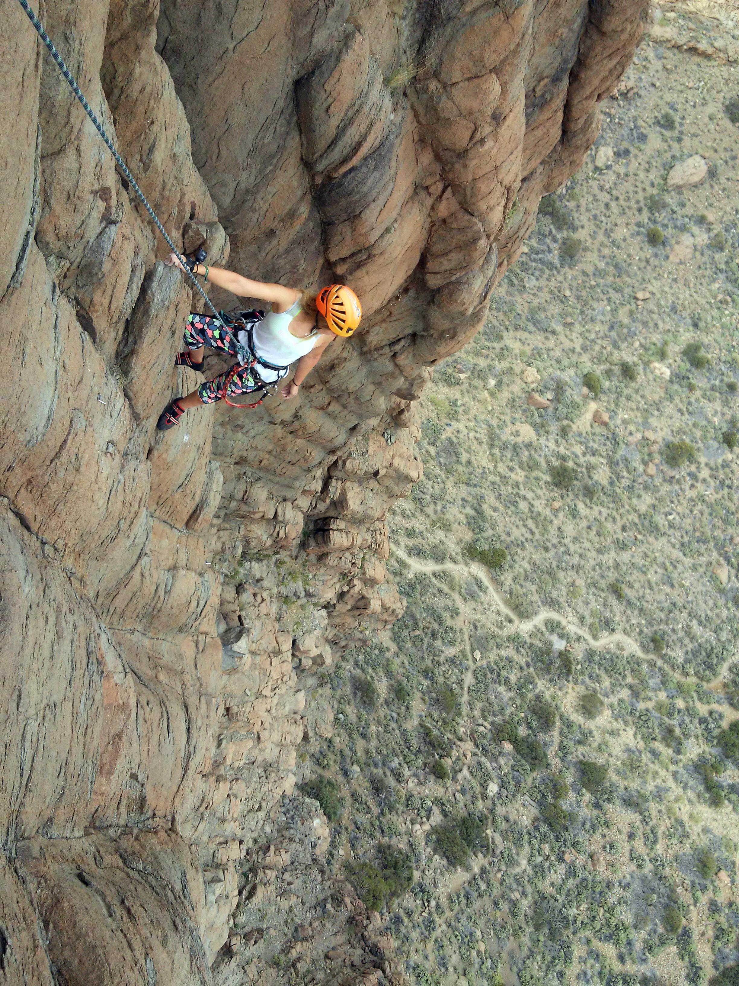 Tenerife rock climbing Adventures, Sophie Radcliffe, One Life, Live It