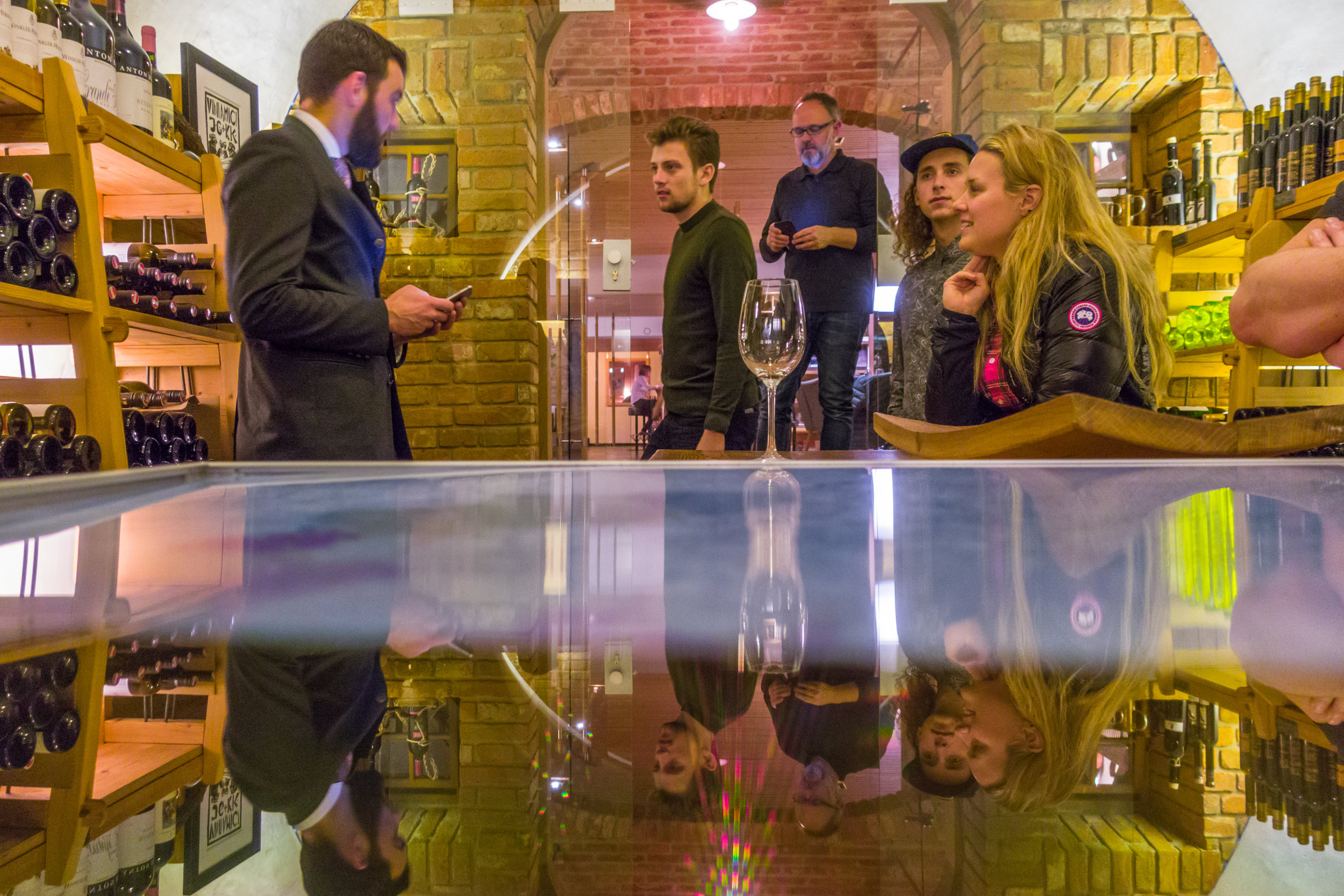 Tour of the wine cellar at Hotel Chesa Valisa