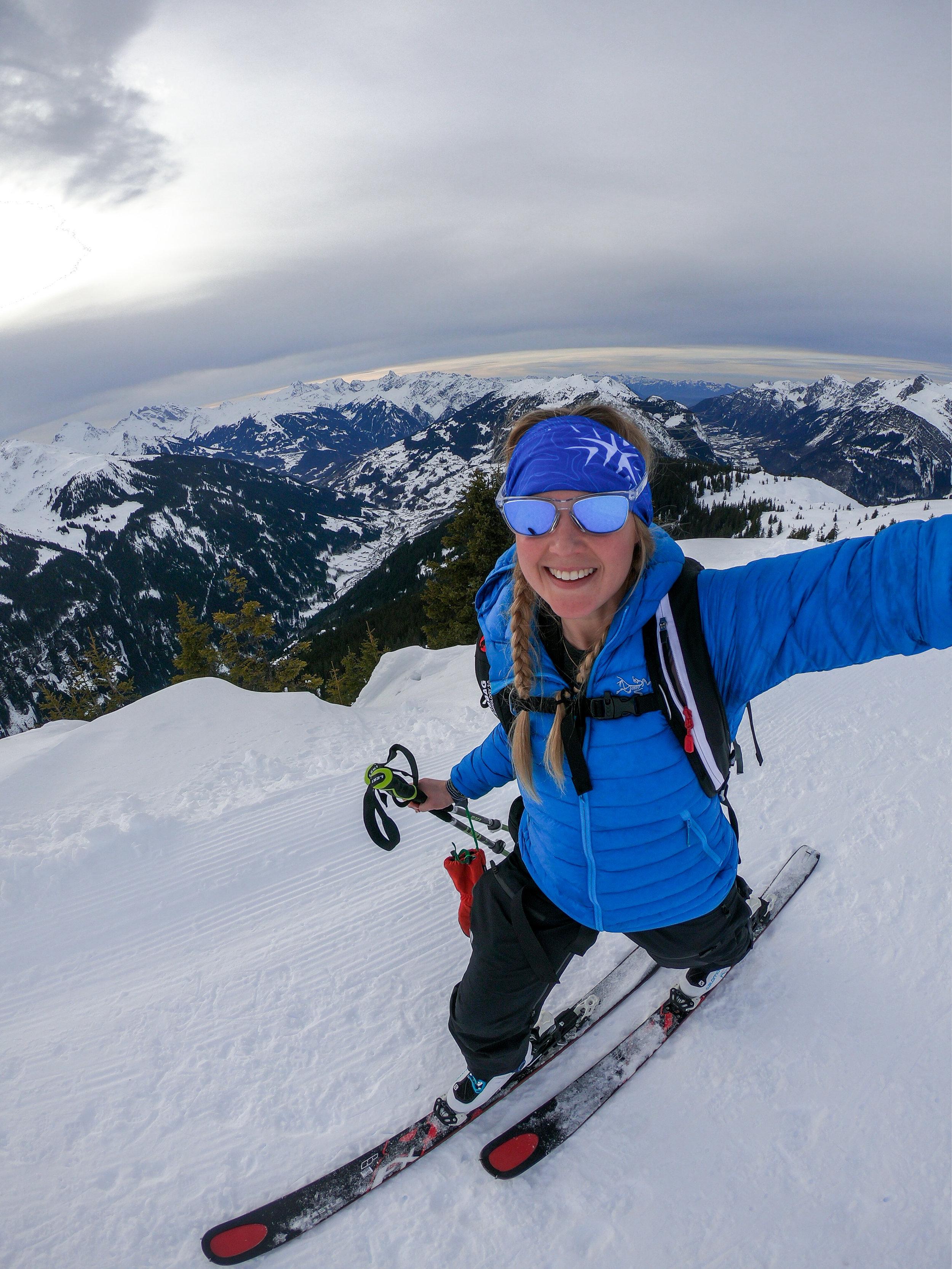 Challenge Sophie, Sophie Radcliffe Ski tour Austria