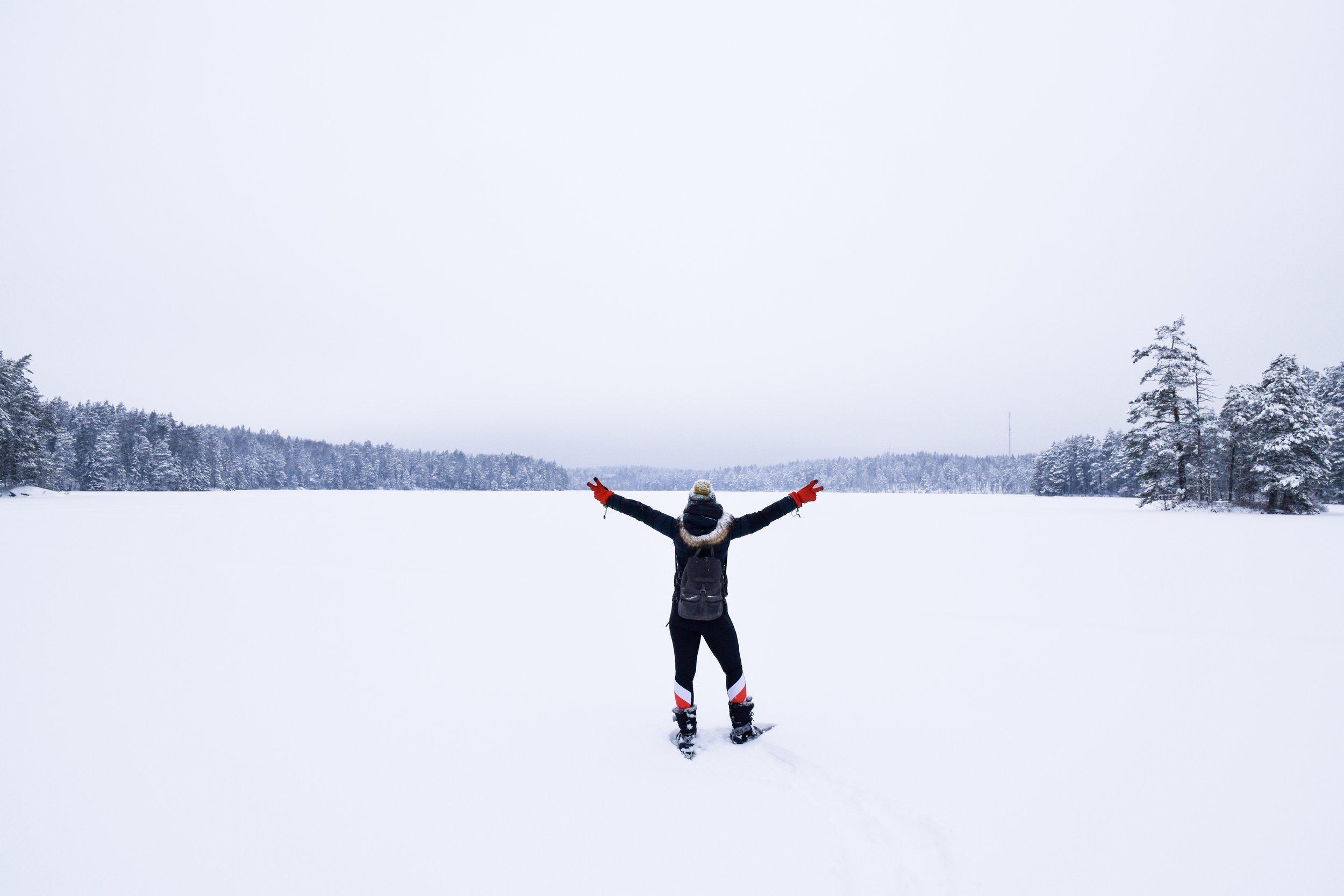 Snowshoeing, Finland