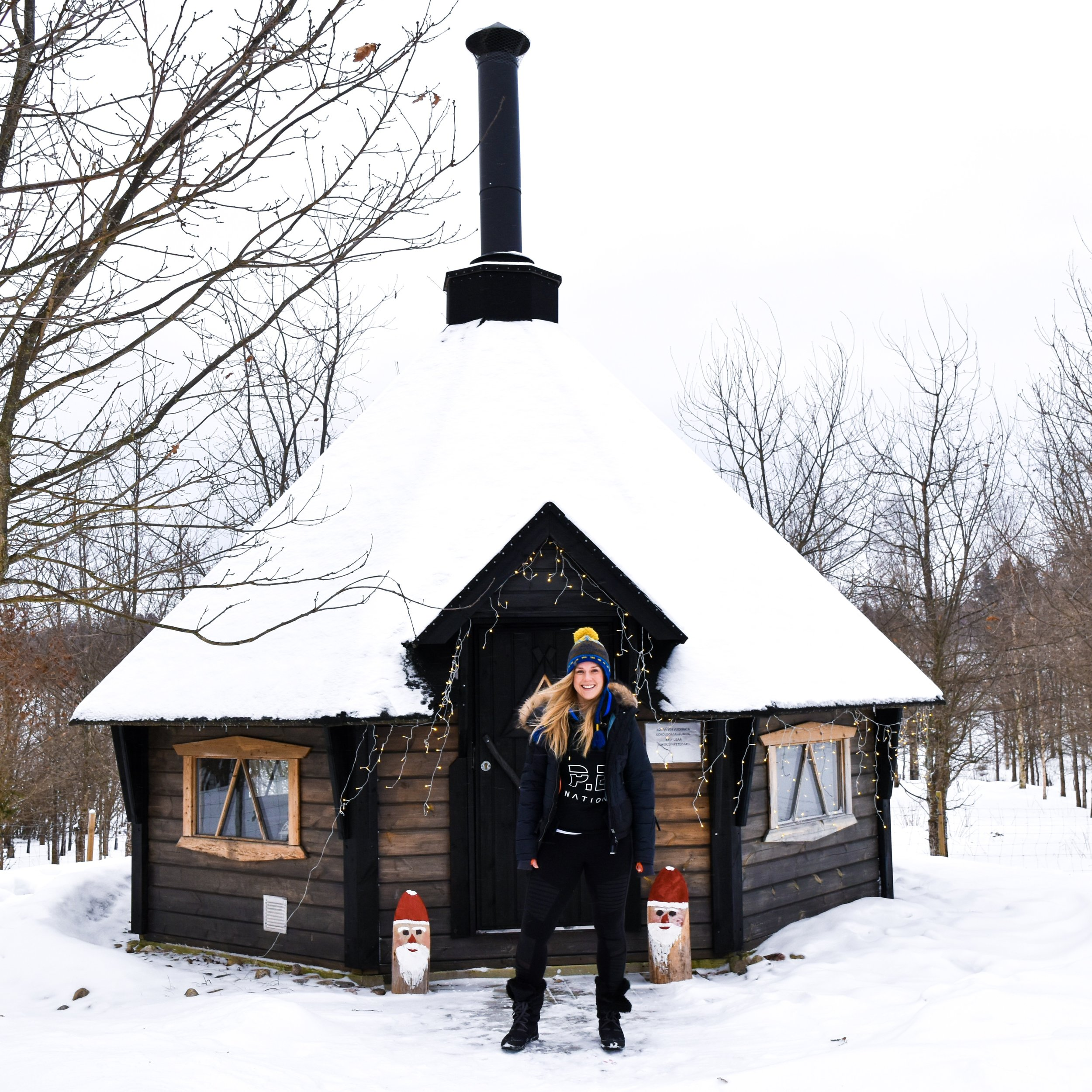 When it's minus 20 outside and you find a hut with a fire and hot tea! Lahti, Finland
